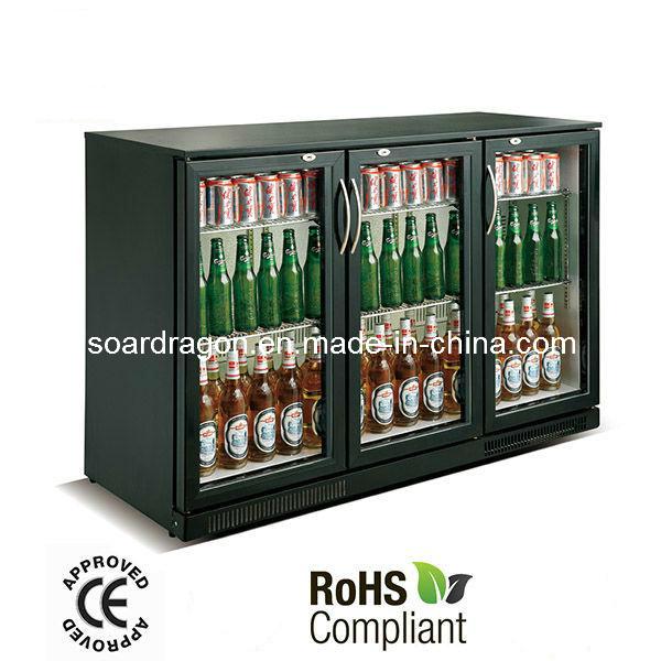 298L CE Approved Black Beer Cooler for Bar