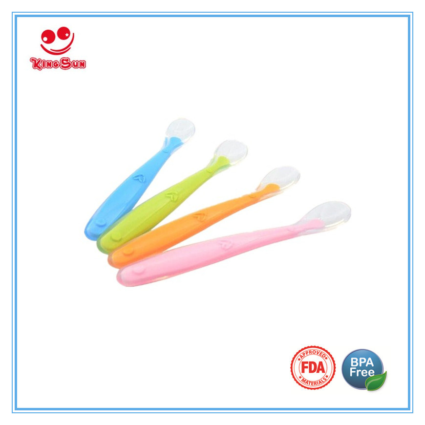 Health Softness Silicone Spoon for Baby Dinner Set