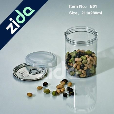 High Quality Hot Sealing Aluminum Lid Pet Food Grade Cheap Plastic Jar