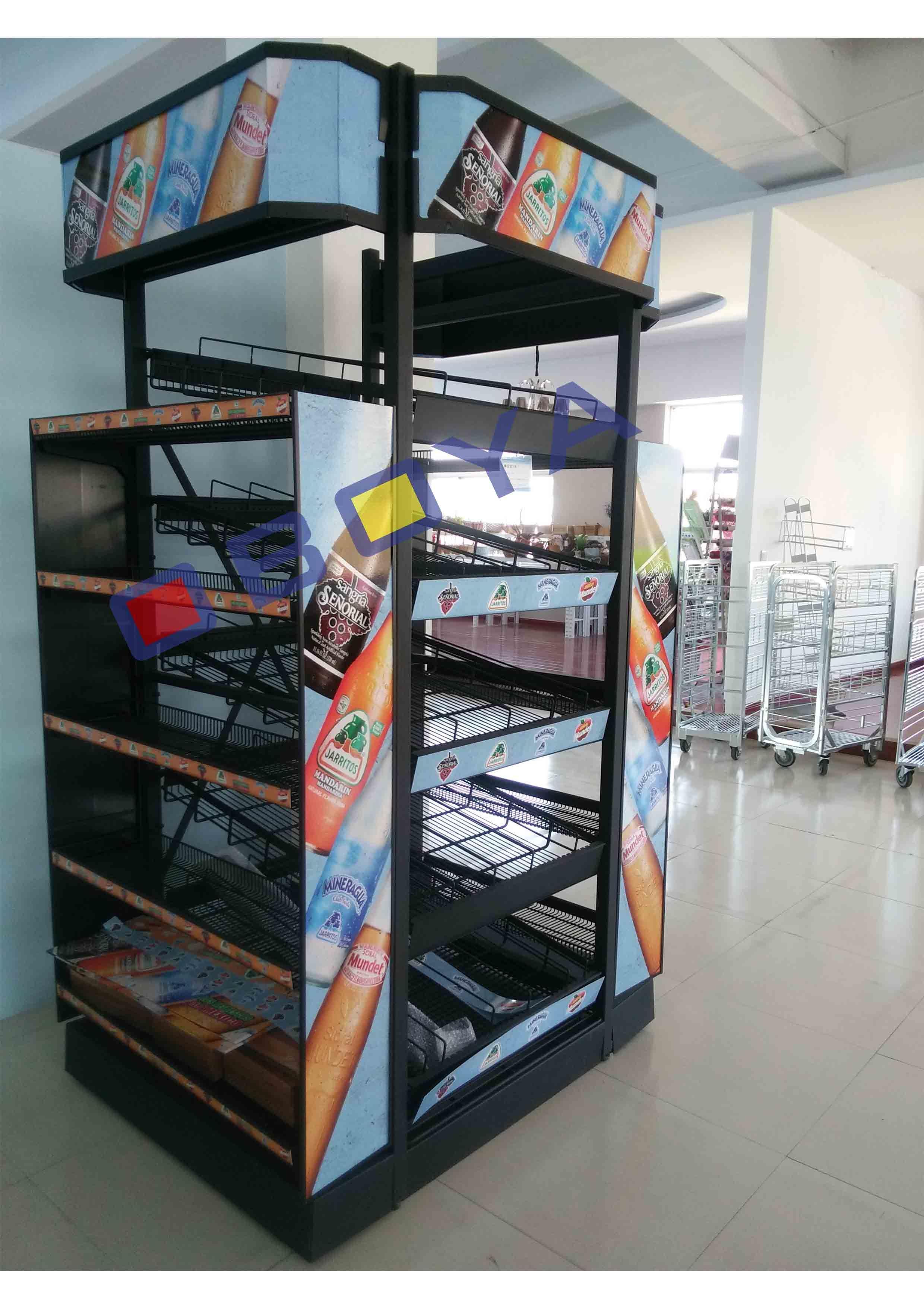 Metal Drink Shelf, Rack for Supermarket