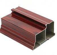 Wood Grain Aluminium Profile for Windows and Door Powder Coating, Thermal Break, Anodizing, Silver Polishing, Golden Polishing