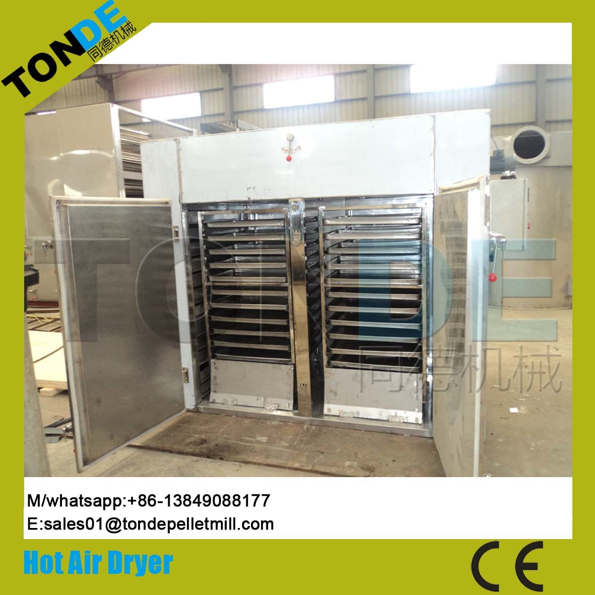 Industrial Hot Air Recycling Fish Food Drying Machine