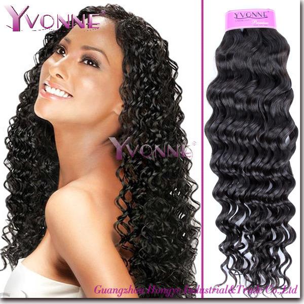 Human Made Hair Brazilian Virgin Weave Weaving Weft Curly 4