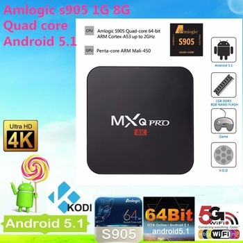 2016 Newest Factory Android4.4 TV Box Mxq PRO 1g+8goriginal Factory Supply Android 4.4. 2 Kitkat Xbmc Amlogic S905 Quad Core