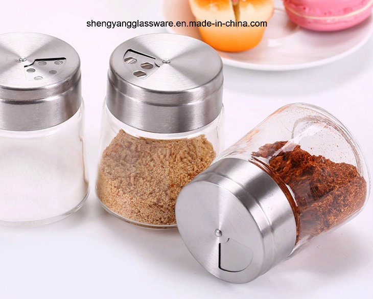 Fashion Pepper/Salt Bottle with Stainless Steel Lid/Spice Jar