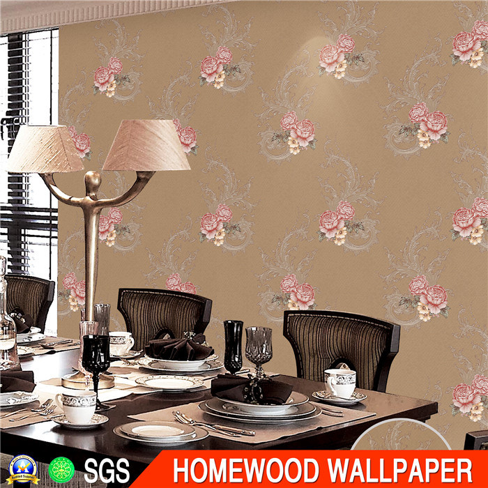 Hot Sell PVC Wallpaper (Size: 106cm*10m / 15.6m)
