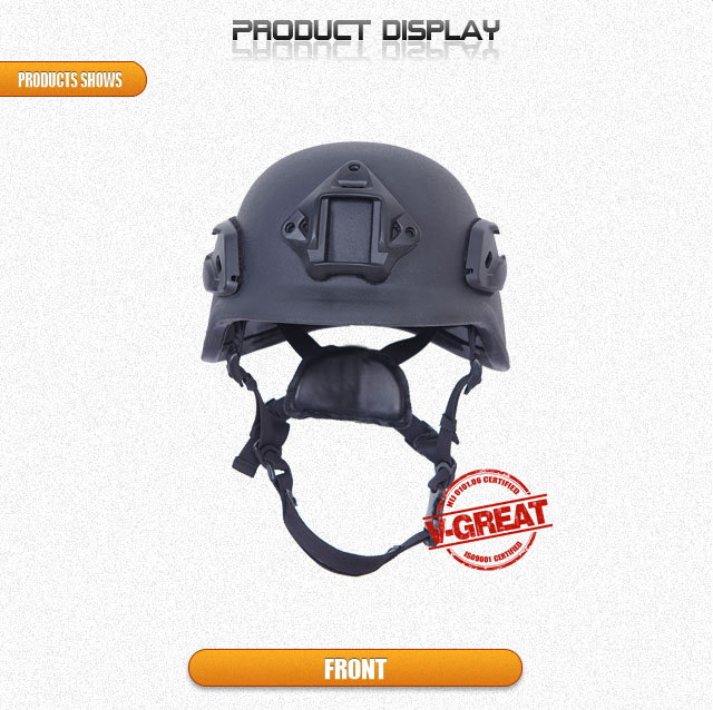 Pasgt Helmet with Side Rails and Shroud