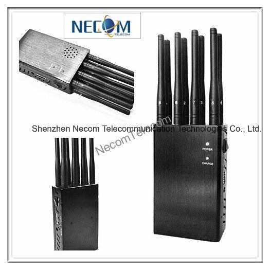 China New System Manufacturer Wholesale Wireless Jammer, Jammer/Blocker for Cellular Phones+GPS+Wi-Fi+Lojack/ Handheld 8 Band Cellphone, WiFi, GPS - China Cell Phone Signal Jammer, Cell Phone Jammer