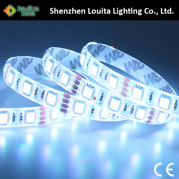 Safe Wearable Double Sided IP65 12V 60LEDs/M 5050 LED Strip