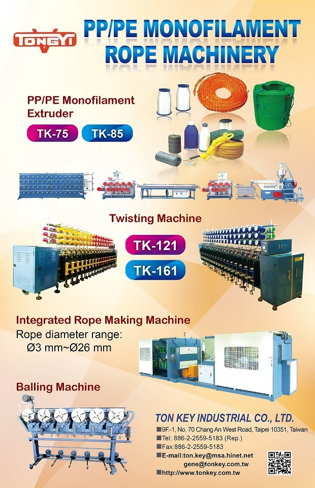 Catalogue of PP/PE Monofilament Rope Production Line