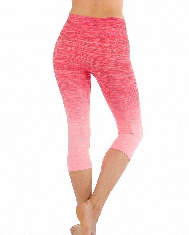 Apparel Women′s Premium Quality Yoga Gym Workout Wear Cropped Pants