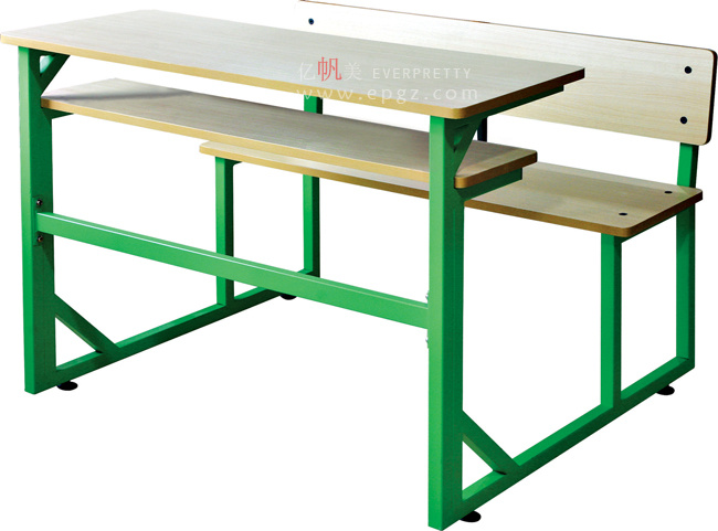 Modern Double School Table Chair Set, Students Table Chairs (GT-55)