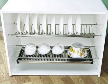 China Kitchen Cabinet Stainless Steel Dish Rack China