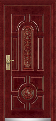 Steel Wooden Armored Door / Steel Wood Security Door (YF-G9001)