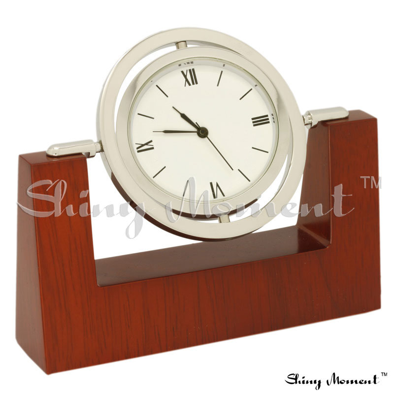 China byb wooden desk clock rosewood
