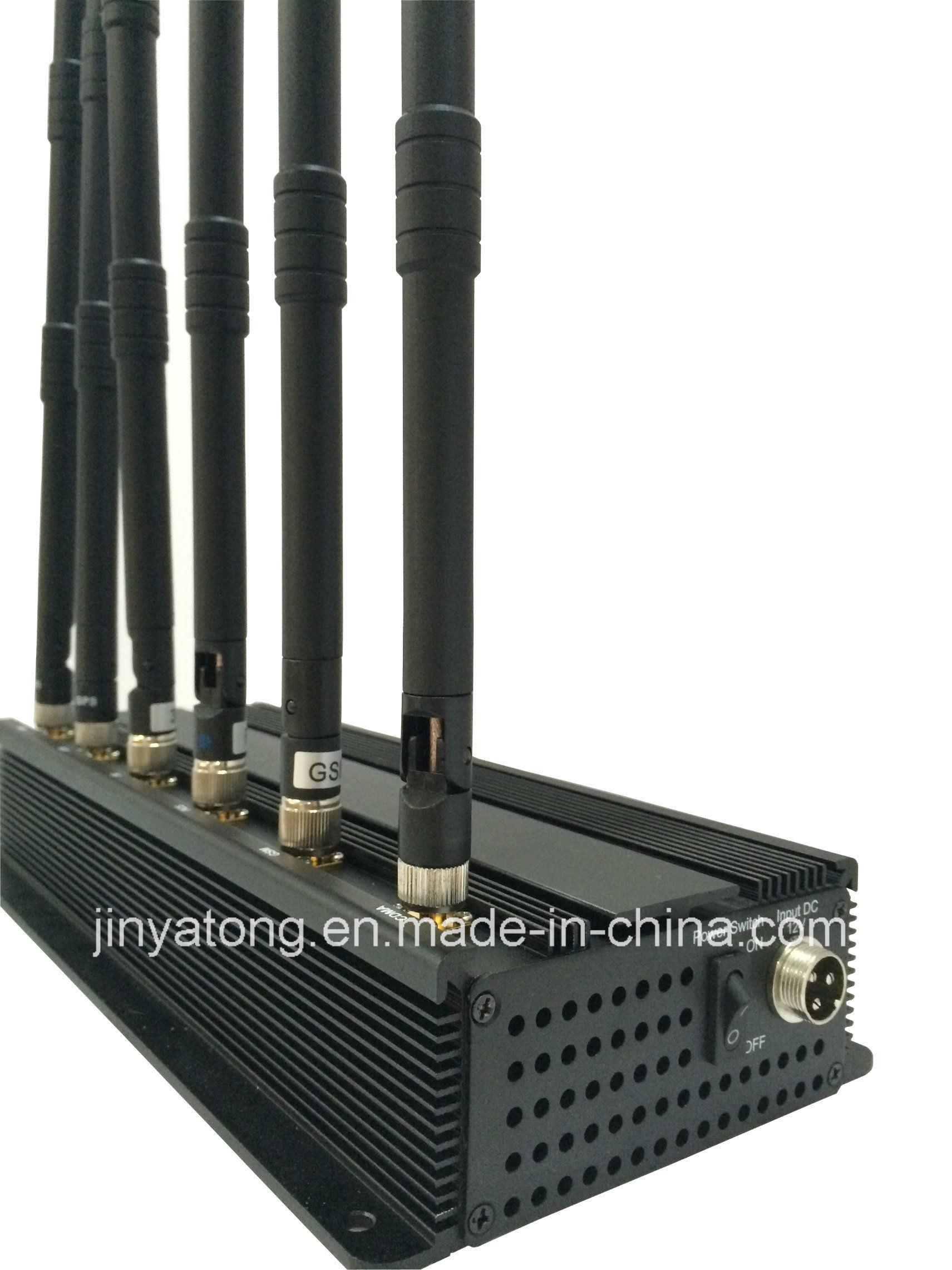 6 Antenna Desktop Cell Phone Jammer for Lojack