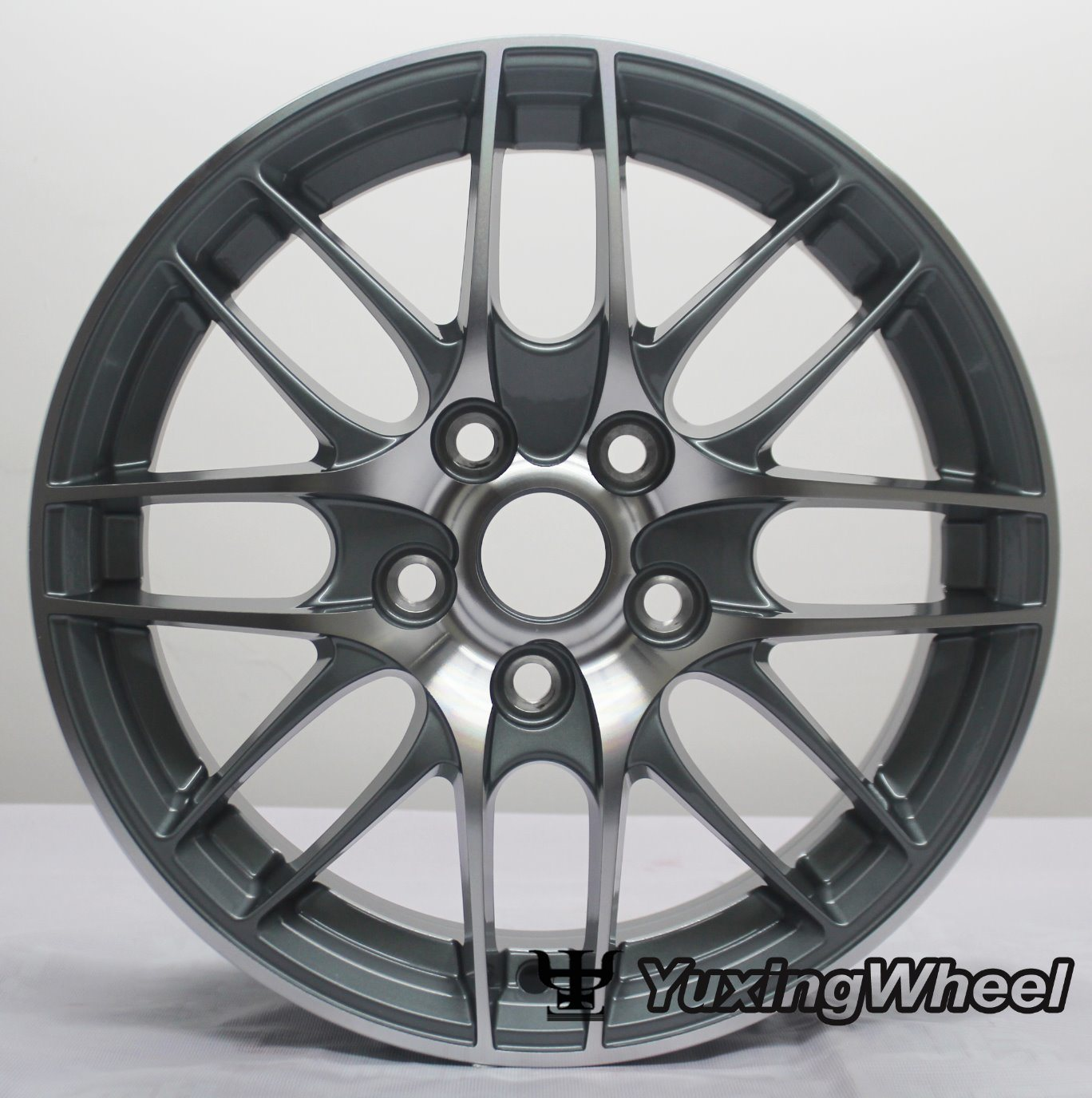 Matt Black Alloy Wheel Car Parts 15 Inch with ISO/Ts 16949: 2009