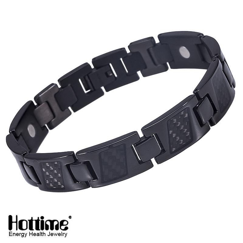 Hottime Carbon Fiber Ta2 Titanium Bracelet with Good Quality