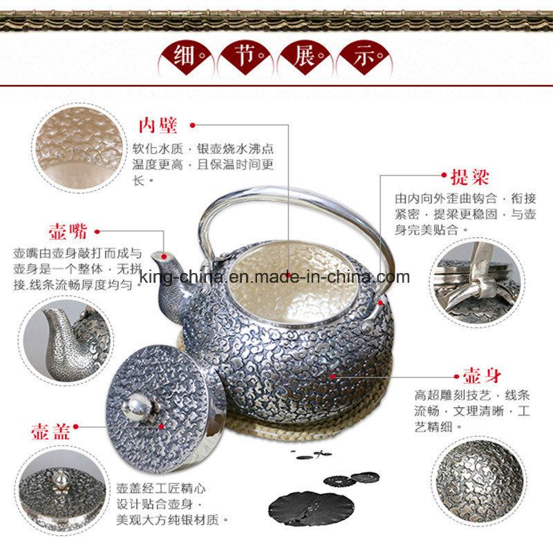 Sterling Silver Silver Pot Teapot S999 Kettle a Handmade Silver Tea Set Teapot Sterling Silver 999 Kettle