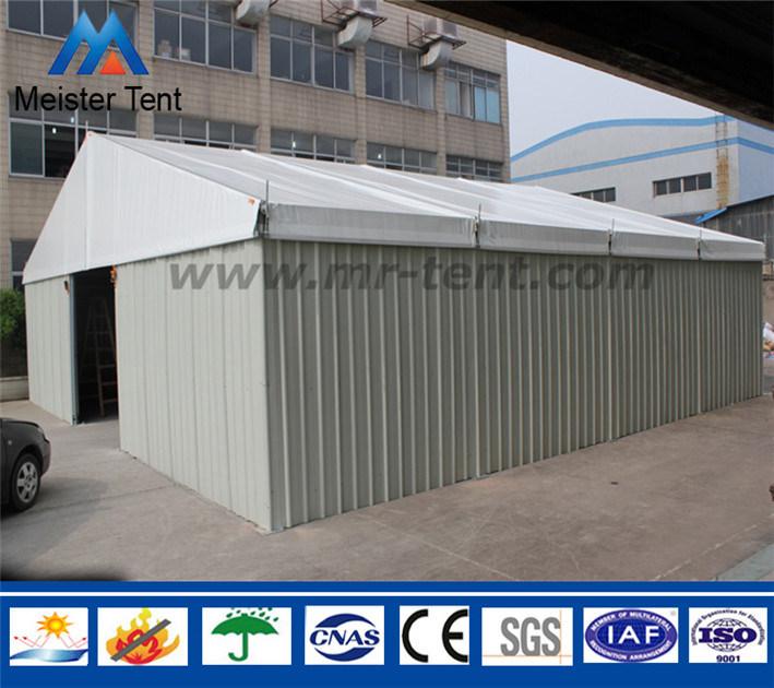 Steel Wall Outdoor Frame Storage Warehouse Tent with Shutter Door