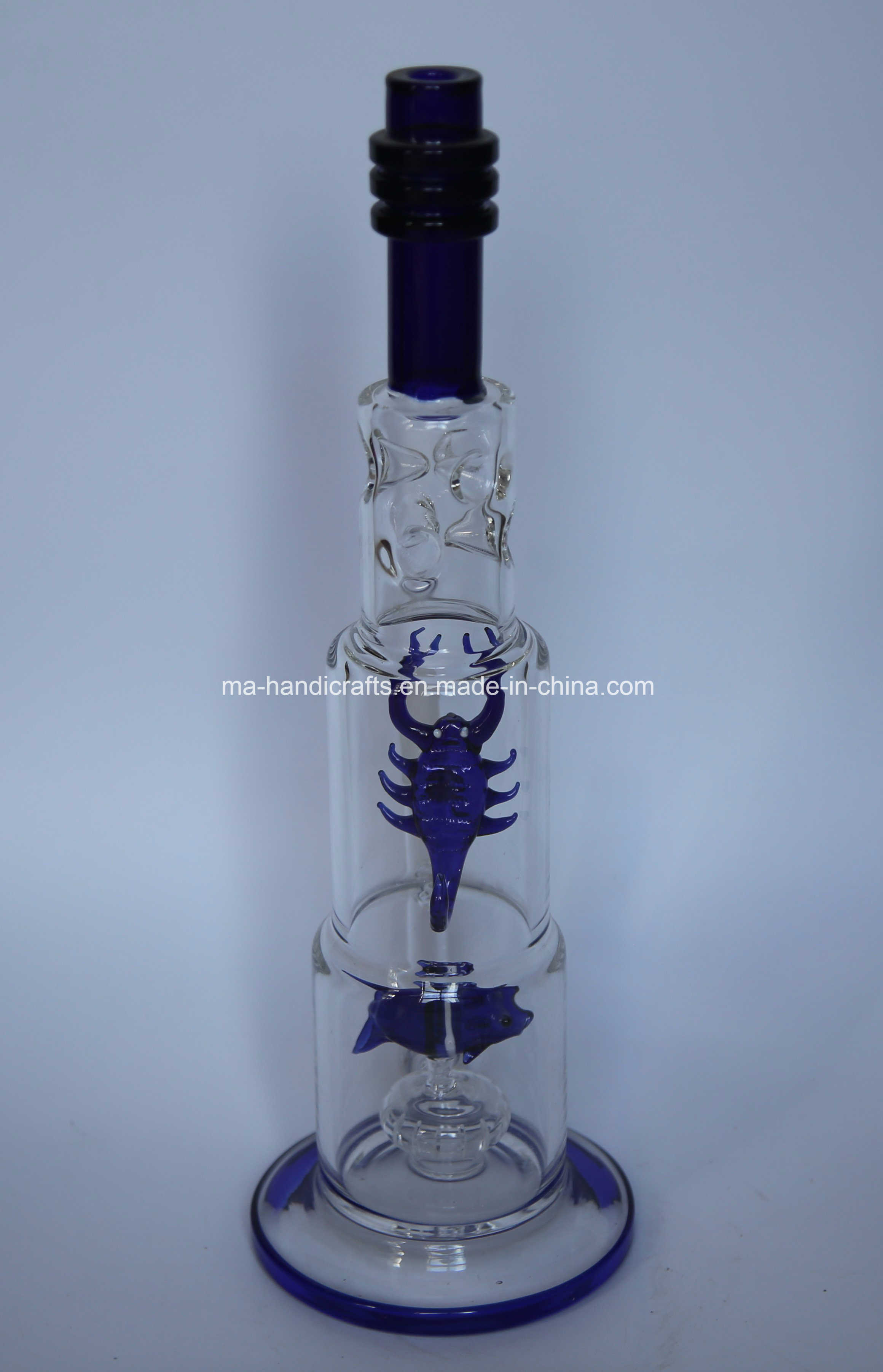 """16"""" Ice Pinches Glass Water Pipes with Fish and Scorpion Perc"""