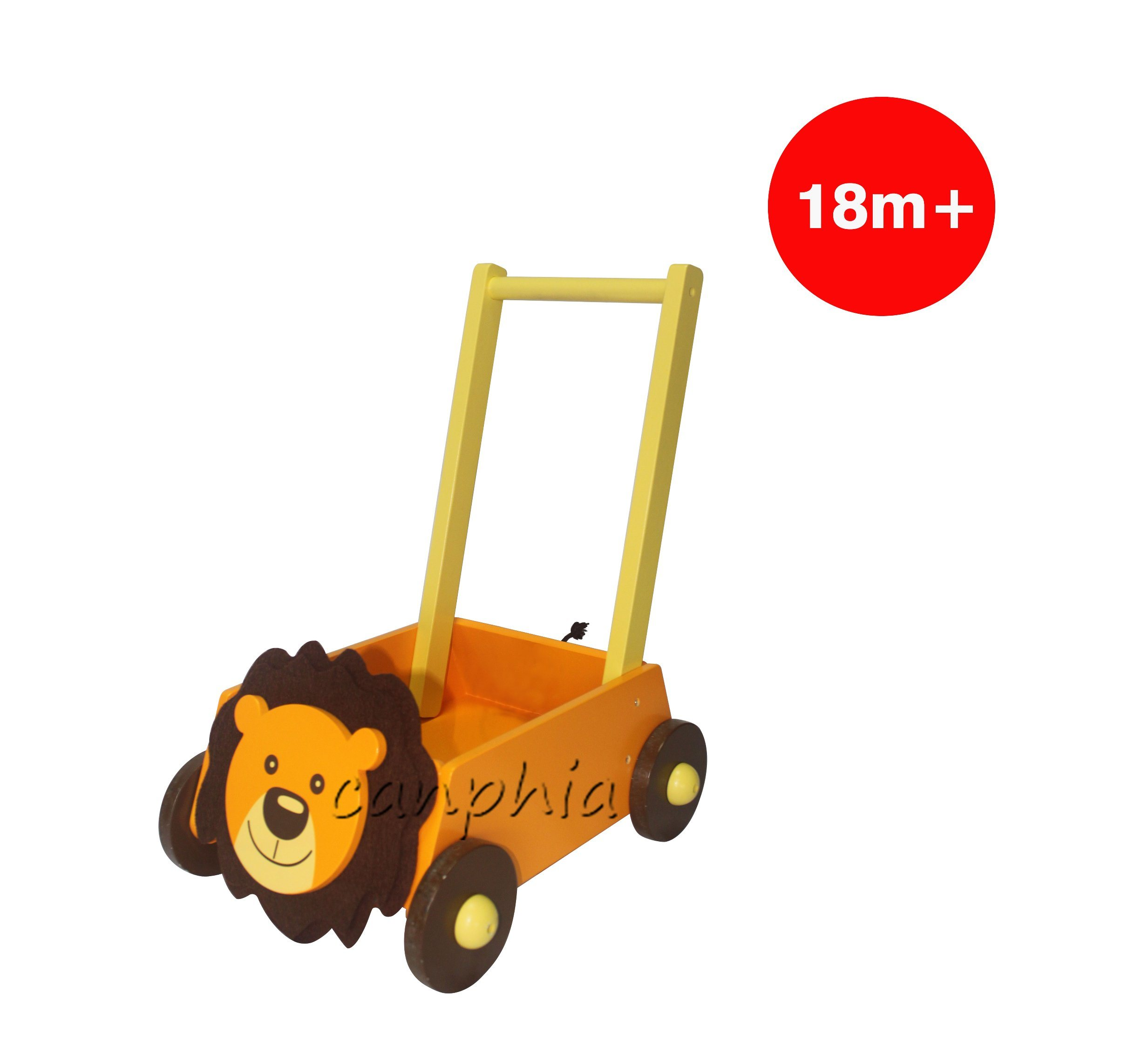 Colourful Lion Wooden Pull Along Toy, Best Selling Wooden Lion Toy with Blocks