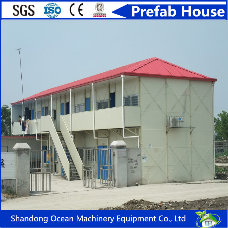 Multifunctional Prefab House of Steel Structure and Sandwich Panel with Low Cost and Perfect Quality