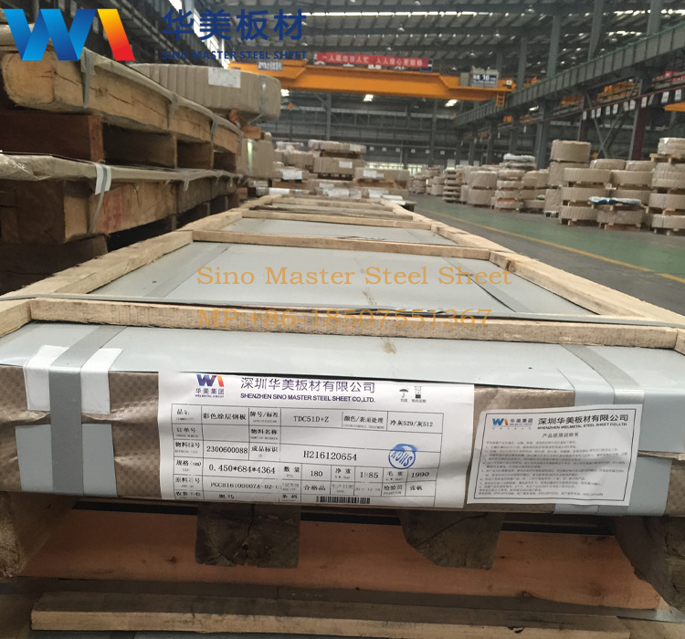 Prepainted Steel Color Coated Steel TDC51D+Z Tdc53D+Z PCM Steel Coil/Sheet PCM Steel Sheet