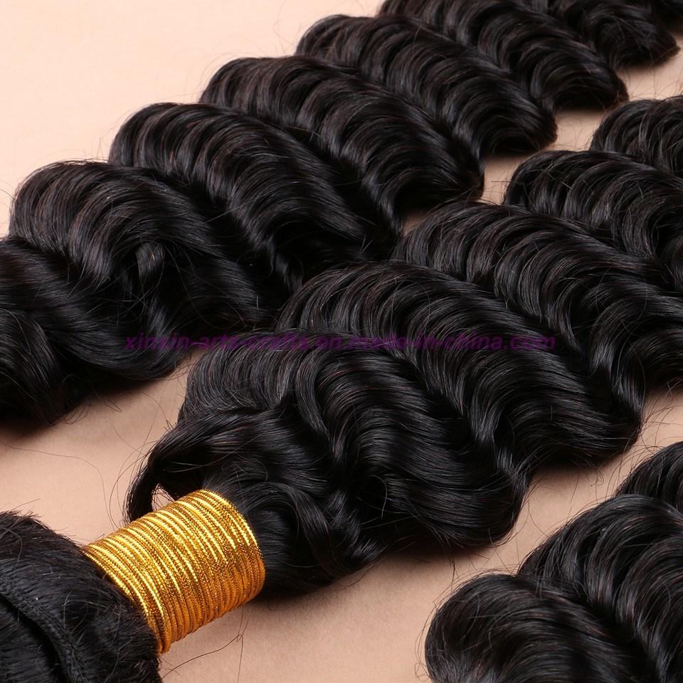 8A Human Hair Weave 3 Bundles Malaysian Deep Wave with Silk Base Closure Malaysian Virgin Hair with Silk Base