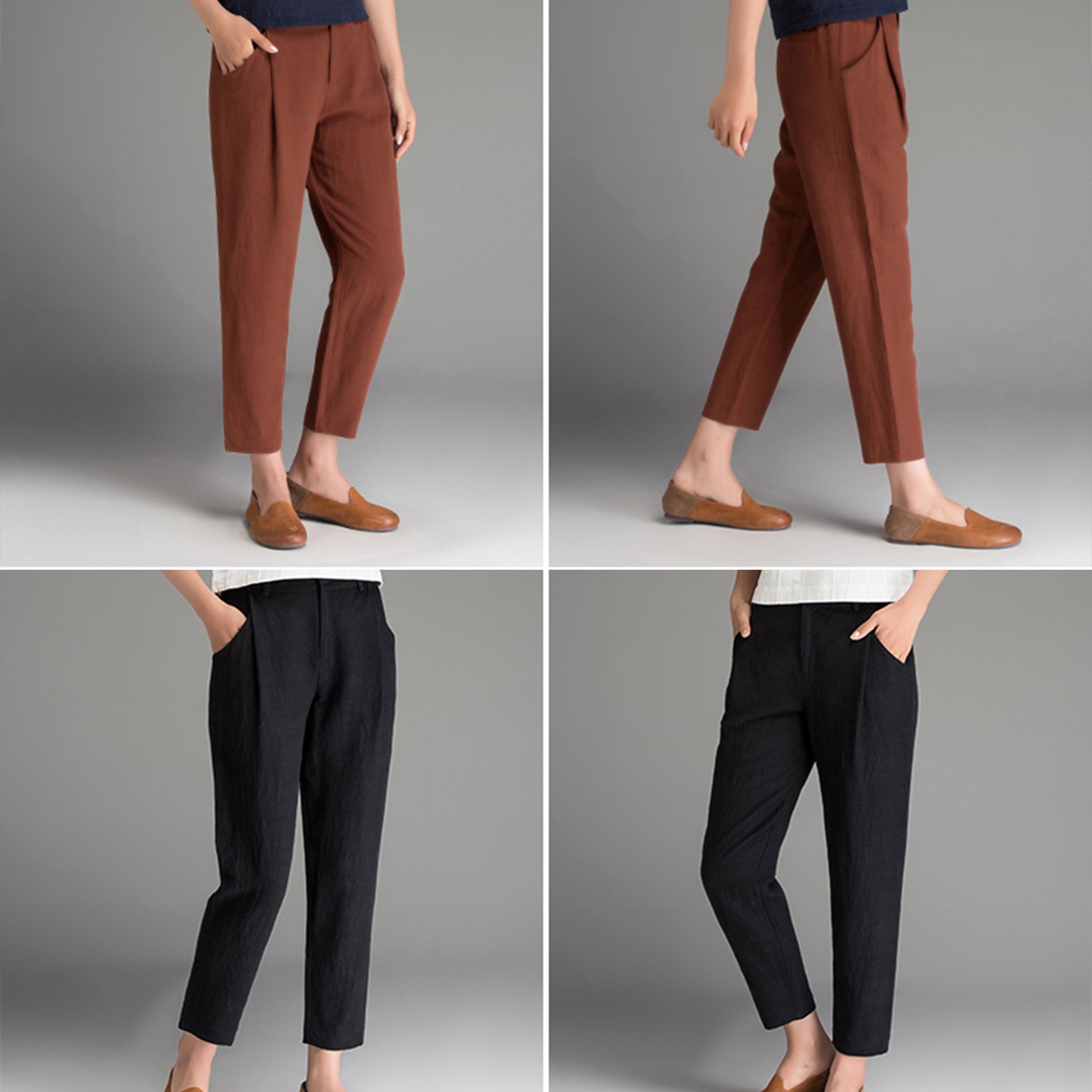 Ladiess Fashion Leisure Preppy Style Pants