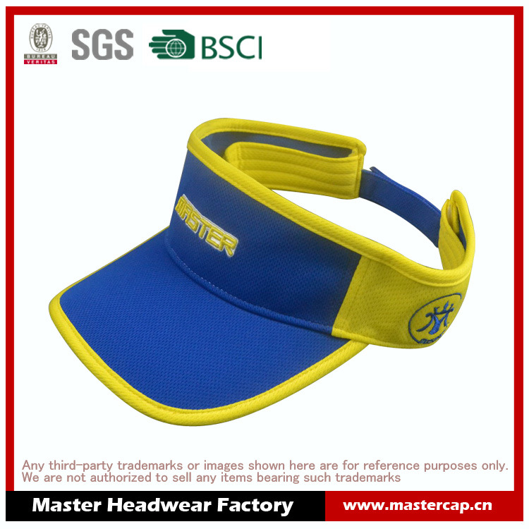 Polyester Mesh Cap Sports Visor with Embroidery