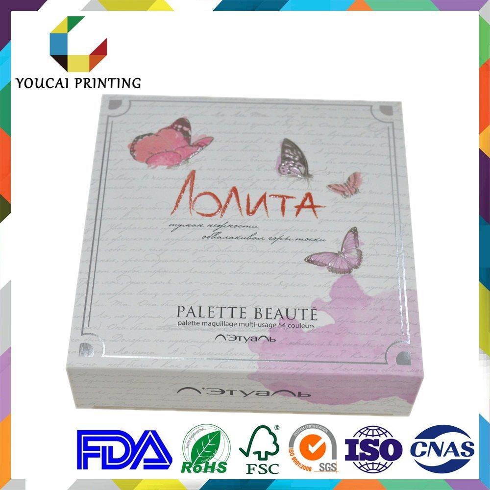 Delicate Rectangular Cosmetic Box with Custom Hot Foil Logo