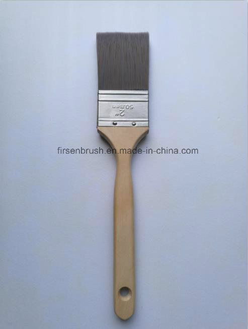 High Quality Srt PBT/Nylon Filament Paint Brush with Long Sash Wooden Handle