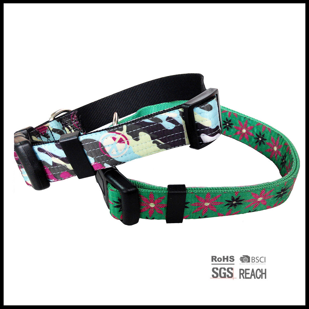 Multi Stitch Fashion Satin Ribbon Nylon Pet Cat Dog Collar