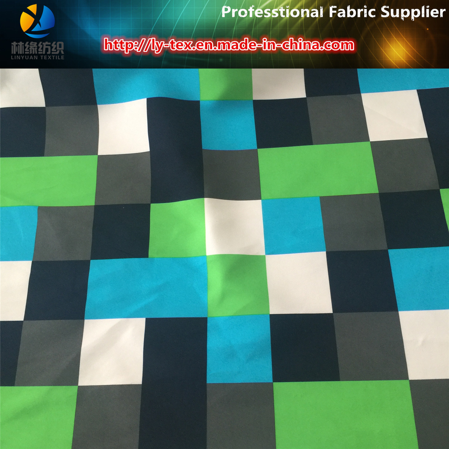 Polyester Twill Peach Skin Fabric Printing for Beach Pants, Polyester Fabric