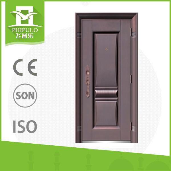 Safety Iron Main Exterior Door Designs with Metal Door Handle