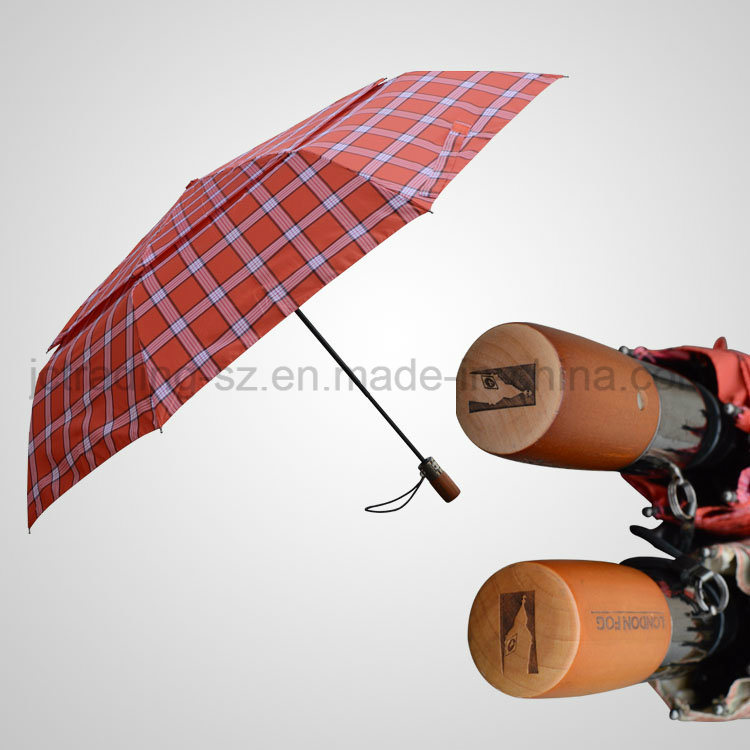 Double Layer Windproof Golf Umbrella 3 Section Automatic Open&Close Umbrella