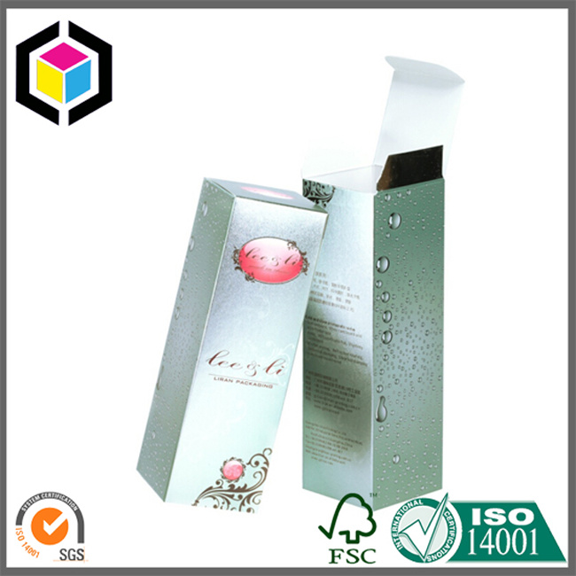 Glossy Color Metallic Skincare Cream Paper Cardboard Box