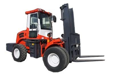 5500kg 4WD off Road Diesel Pallet Forklift Truck with Ce