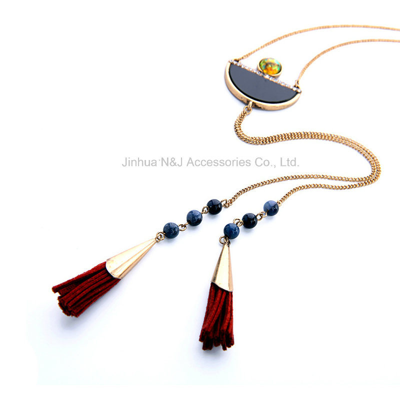 Fashion Exquisite Tassel Ethnic Long Necklace & Pendant Women Turquoise Gold Plated Brand Jewelry & Accessories