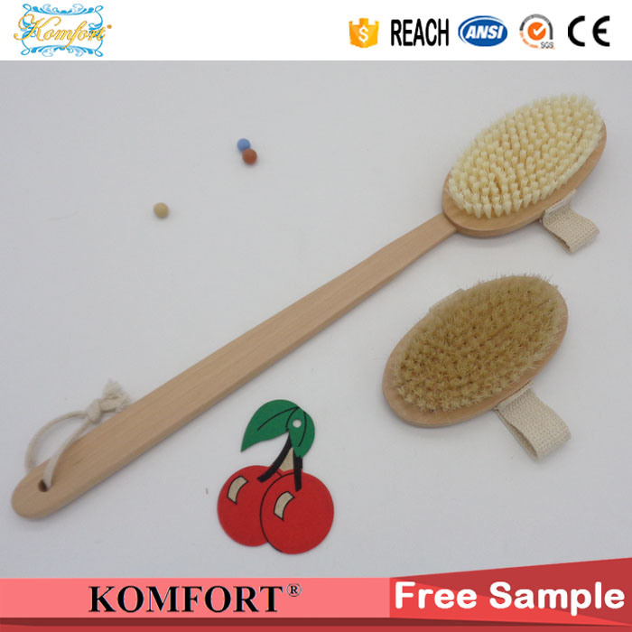 Wet Boar Bristle Skin Scrubber SPA Leg Exfoliating Bath Body Brush (JMHF-92)