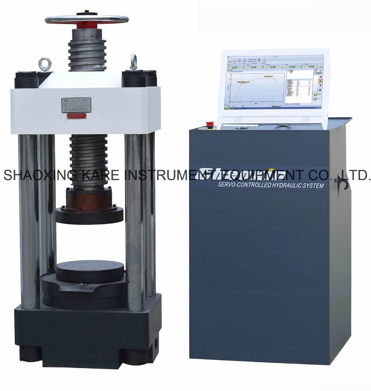Computerized Electro-Hydraulic Servo Compression Testing Machine (YAW-3000)