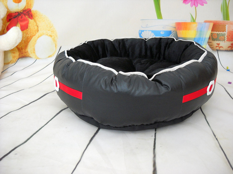 Plum Flowers Button Style Dog Bed, Pet Bed