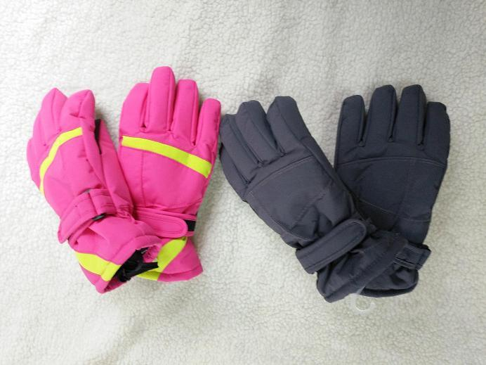Girls Ski Gloves with Belt