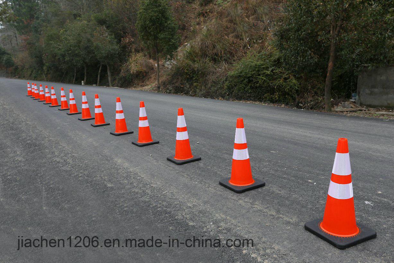 Heavier Black Base Excellent PVC 900mm Traffic Cone