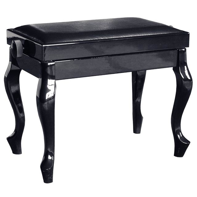 Musical Instruments Modern Black Adjustable Piano Bench Stool (C) Schumann