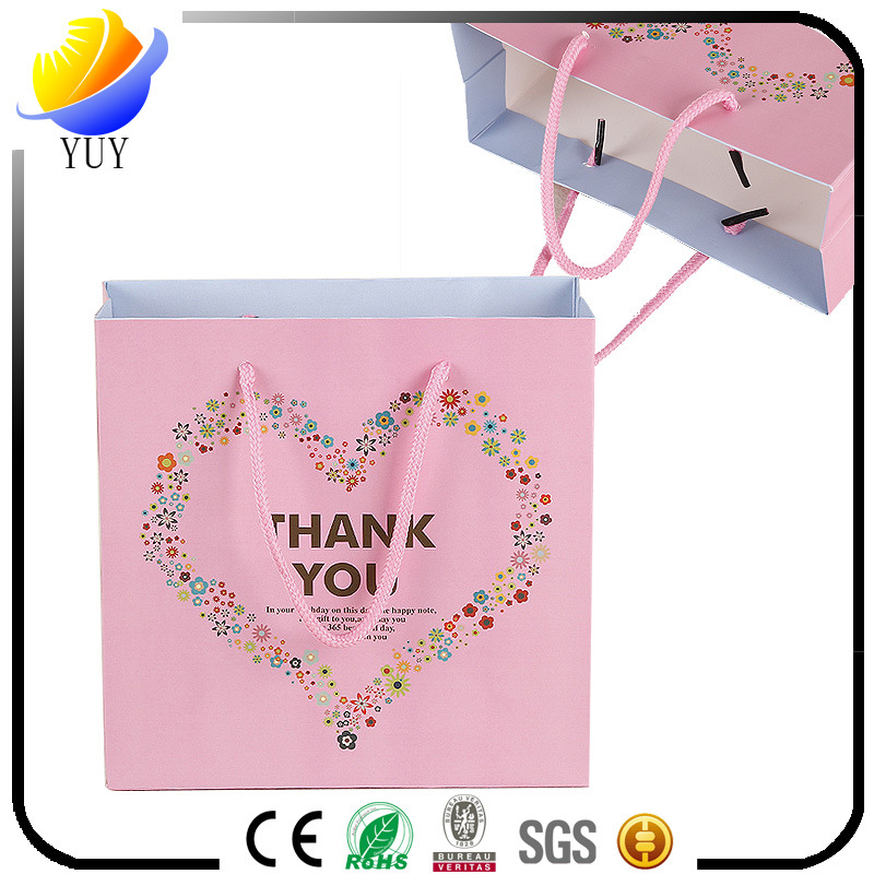 Colorful Heart Pattern Clear Purchasing Paper Bag