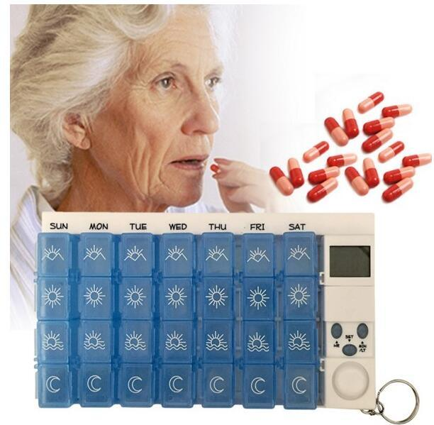 Digital 7days Pill Reminder Pill Box Case Timer