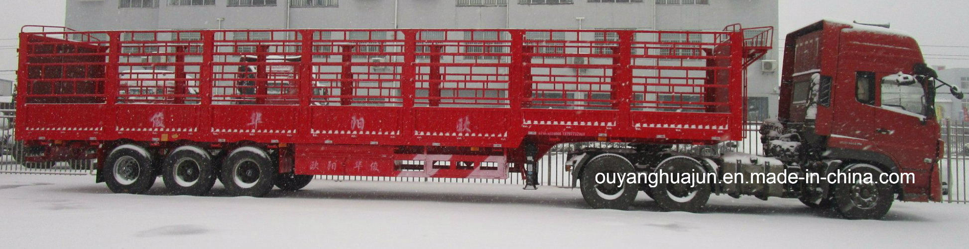 Warehouse Column Semitrailer with Short Locks