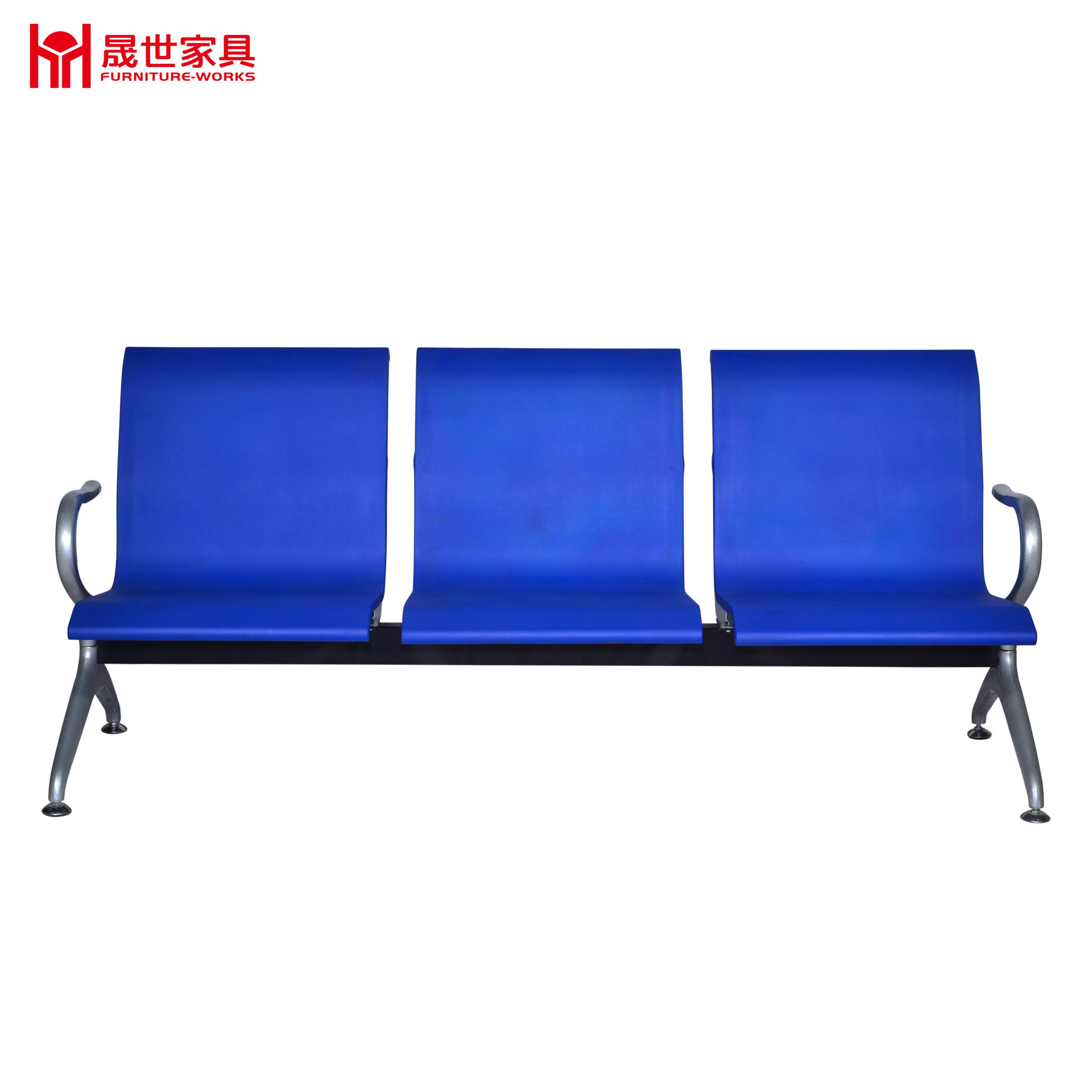 Airport/Hospital/Station Bench Chair with PU 3-Seater Waiting Chair From China Supplier